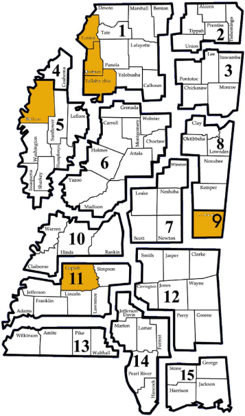 Workforce District Map